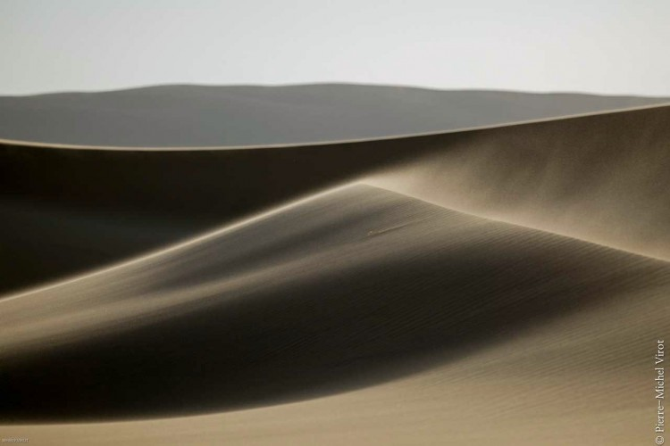 Windy sand dunes in Namibia